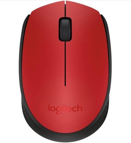 Mouse Logitech M170 Wireless Nano Vermelho