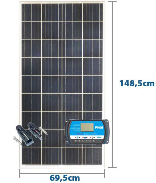 Painel Solar 150w + Controlador 20A PWM
