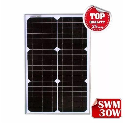 Painel Solar 30w Monocristalino 18V / 1.77A