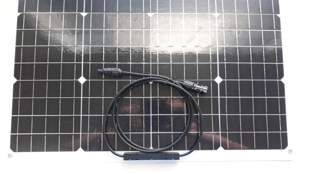 Painel Solar 30W Semi Flexível Monocristalino 18V / 1.6A