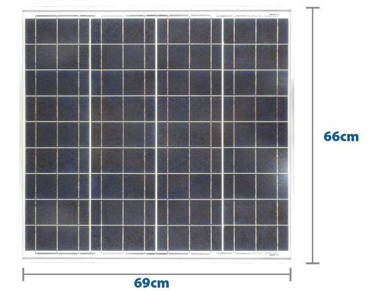 Painel Solar 55W Yingli YL055P-17B 2/5 36 Células Policristalinas