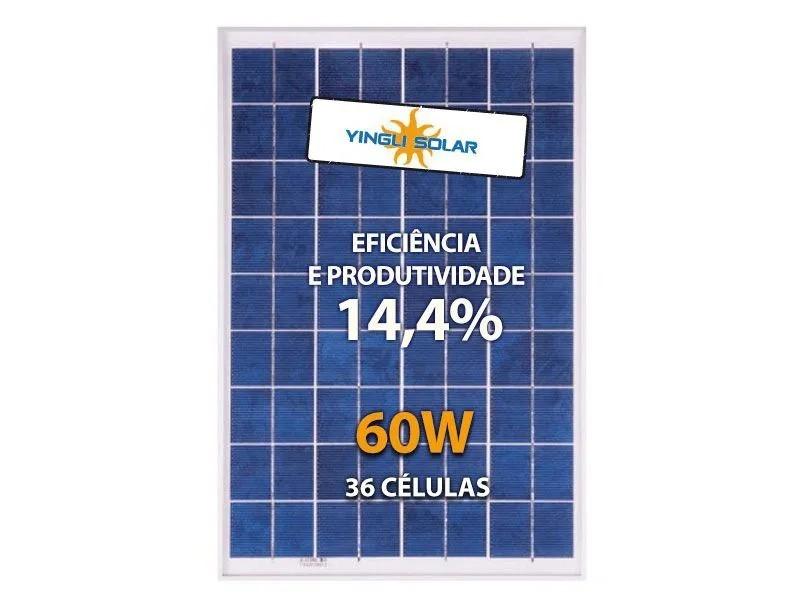 Painel Solar 60W Yingli YL060P-17B 2/5 36 Células Policristalinas