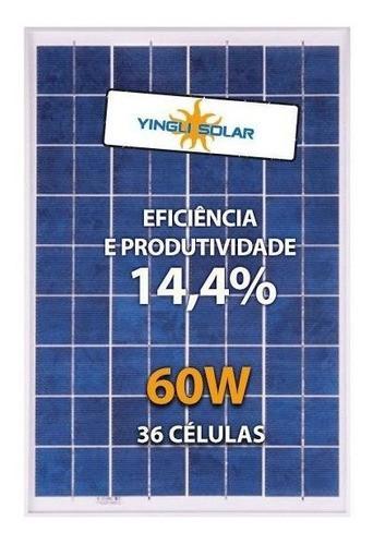 Painel Solar 60W Yingli YL060P-17B Policristalino - Caixa C/ 6Un