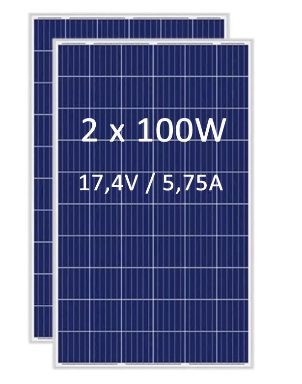 Painel Solar Fotovoltaico 100W - Resun RSM-100P - 2Un
