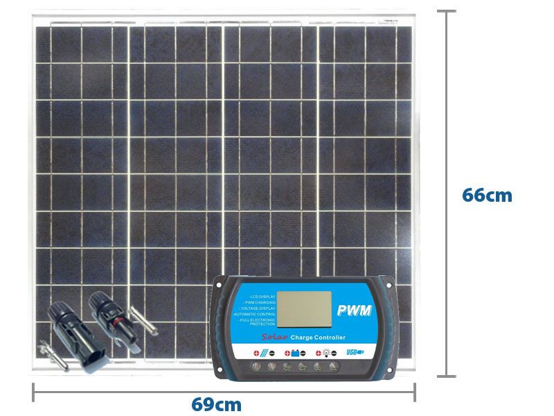 Painel Solar Yingli 55w + Controlador Pwm 10a + Mc4