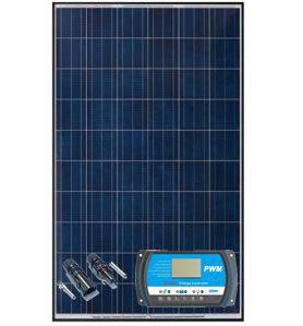 Painel Solar Yingli 100W + Controlador PWM 20A + Par MC4
