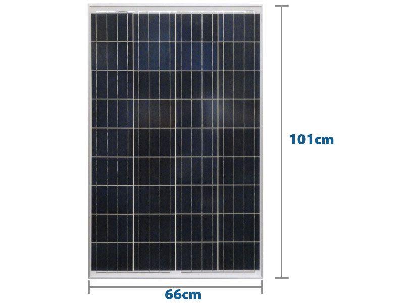 PAINEL SOLAR 100W YINGLI YL100P-17B 2/3 36 CÉL POLI - Caixa c/ 2un