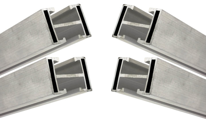 Perfil Barra Trilho Estrutura p/ Painel Solar 4,80M + Middle e End Clamp