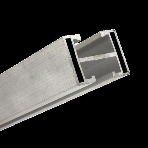 Perfil Barra Trilho Suporte Estrutura p/ Painel Solar 4,20Mt Alumínio c/ 2un