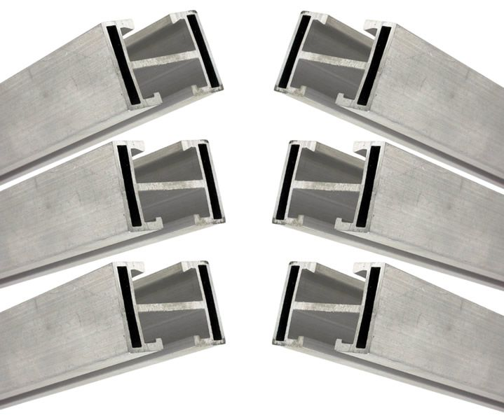Perfil Barra Trilho Suporte Estrutura p/ Painel Solar 4,20Mt Alumínio c/ 6un