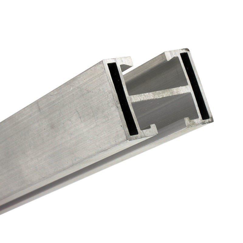 Perfil Barra Trilho Suporte Estrutura p/ Painel Solar 4,40Mt Alumínio c/ 2un