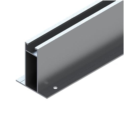 Perfil Plano Estrutura Suporte Mini Trilho Alto Telha Metálica Trapezoidal Mini Trilho 55Cm