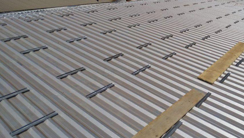Perfil Plano Estrutura Suporte p/ Painéis Solares Telha Metálica Trapezoidal