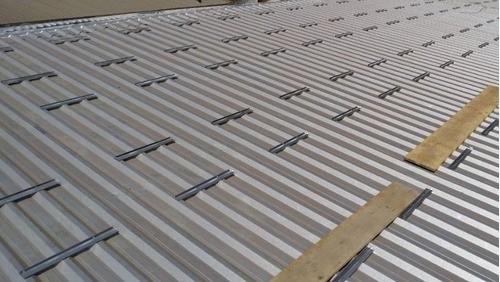 Perfil Plano Estrutura Suporte p/ Painéis Solares Telha Metálica Trapezoidal Mini Trilho c/ 4un