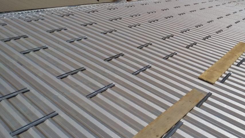 Perfil Plano Estrutura Suporte p/ Painéis Solares Telha Metálica Trapezoidal Mini Trilho c/ 8un