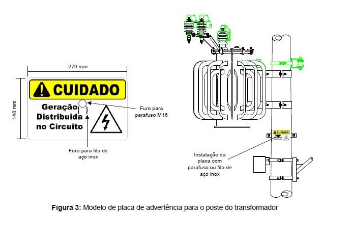 Placa Cuidado Geração Distribuída Circuito Fibra Vidro Padrão Enel