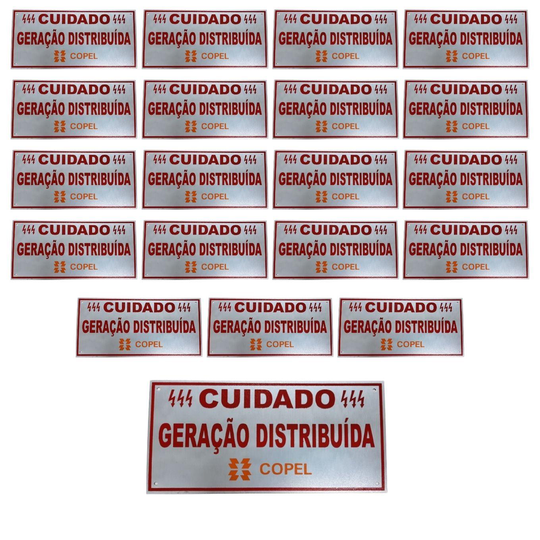 Placa Cuidado - Geração Distribuída - Padrão Copel C/ 20un - Relevo
