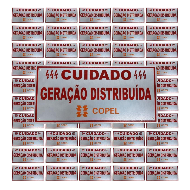 Placa Cuidado - Geração Distribuída - Padrão Copel C/ 50un - Relevo
