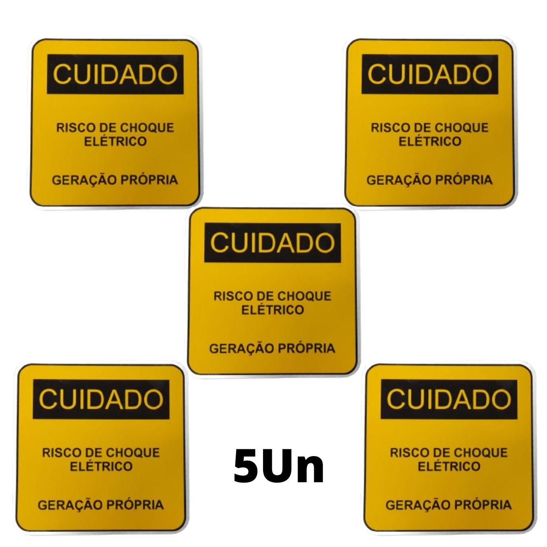 Placa Cuidado - Geração Própria  - Padrão CPFL Tam 13x13 CA 5un