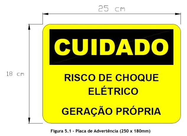 Placa Cuidado - Geração Própria - Padrão Energisa, Cemig, Enel Goias, Cemig, Celesc Eletrobras - Tam 25x18 CA - 20Un