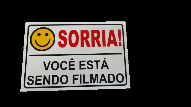 Placa Sorria Você Está Sendo Filmado Tam 15x10 - 10un