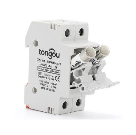 Seccionadora Fusível Duplo P/ Energia Solar 1000VDC C/ Fusível 15A