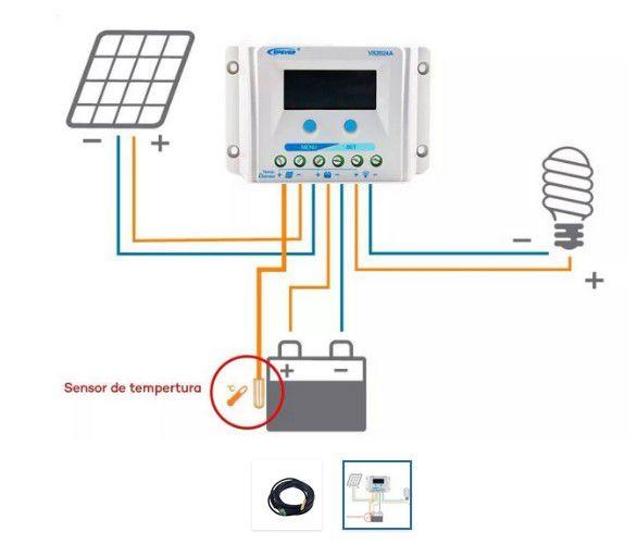 Sensor De Temperatura Controlador De Carga Epsolar / Epever