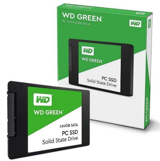 "SSD 120GB WESTERN DIGITAL GREEN SATA III 2,5"""