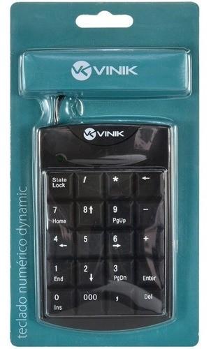TECLADO NUMÉRICO USB DYNAMIC VINIK 20 TECLAS 1.5M PRETO - DT90