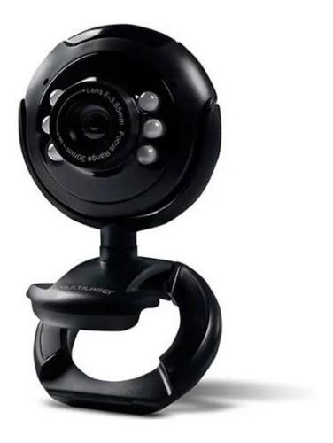 Webcam Multilaser 16Mp Nightvision c/ Microfone Usb Preto - WC045