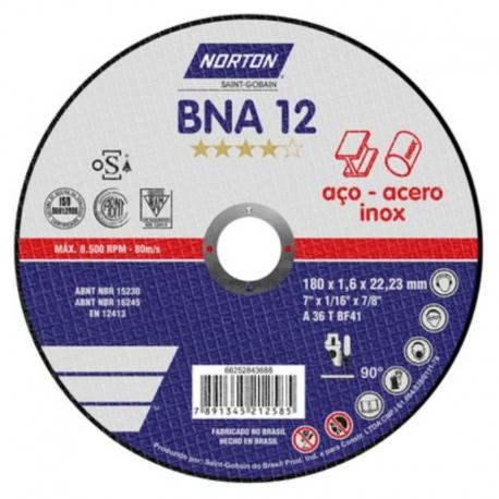 KIT 20 DISCOS DE CORTE T41-180X1.6X22.23 AZUL BNA12 NORTON