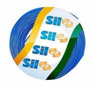 Cabo Fio Flexível Rolo 15 Metros 750V 1,5mm Azul Flexsil - SIL