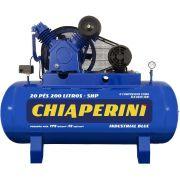 Compressor De Ar CHIAPERINI 20/200 Blue C/ MT 200 Litros 5HP - 220/380V