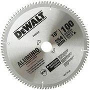 Disco de Serra Circular de 10 Pol. para Alumínio/Madeira - 100 Dentes DEWALT-DW03220