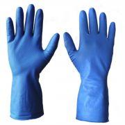 Luva Super Glove Nitrilica AZUL SGLOVE-B
