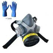 Mascara Respirador Facial Destra C/ Filtro VO/GA + Luva Super Glove