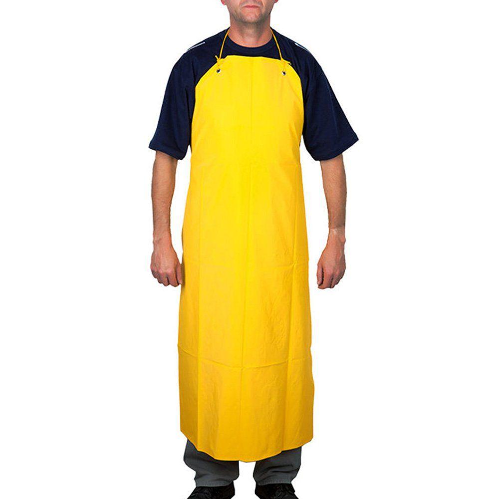 Avental Amarelo de PVC Forrado 0,70X/1,20 C/ Ilhoss e Cordao Capseg