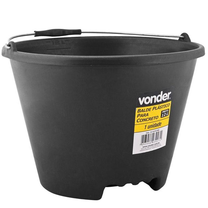 Balde Plástico P/ Concreto 12 litros Vonder