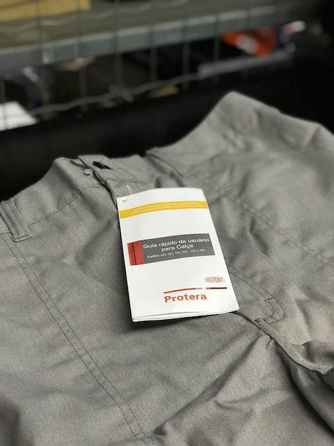 Calça Protera Cinza DuPont C/ Faixa Refletiva