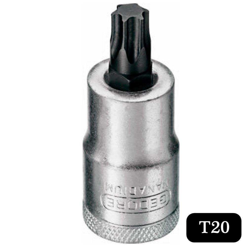 Chave Soquete C/ Ponta Torx Curta T20 de 1/2 Pol. - Gedore ITX19-T20