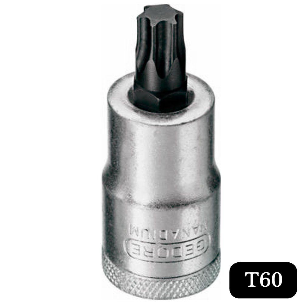Chave Soquete C/ Ponta Torx Curta T60 de 1/2 Pol. - Gedore ITX19-T60