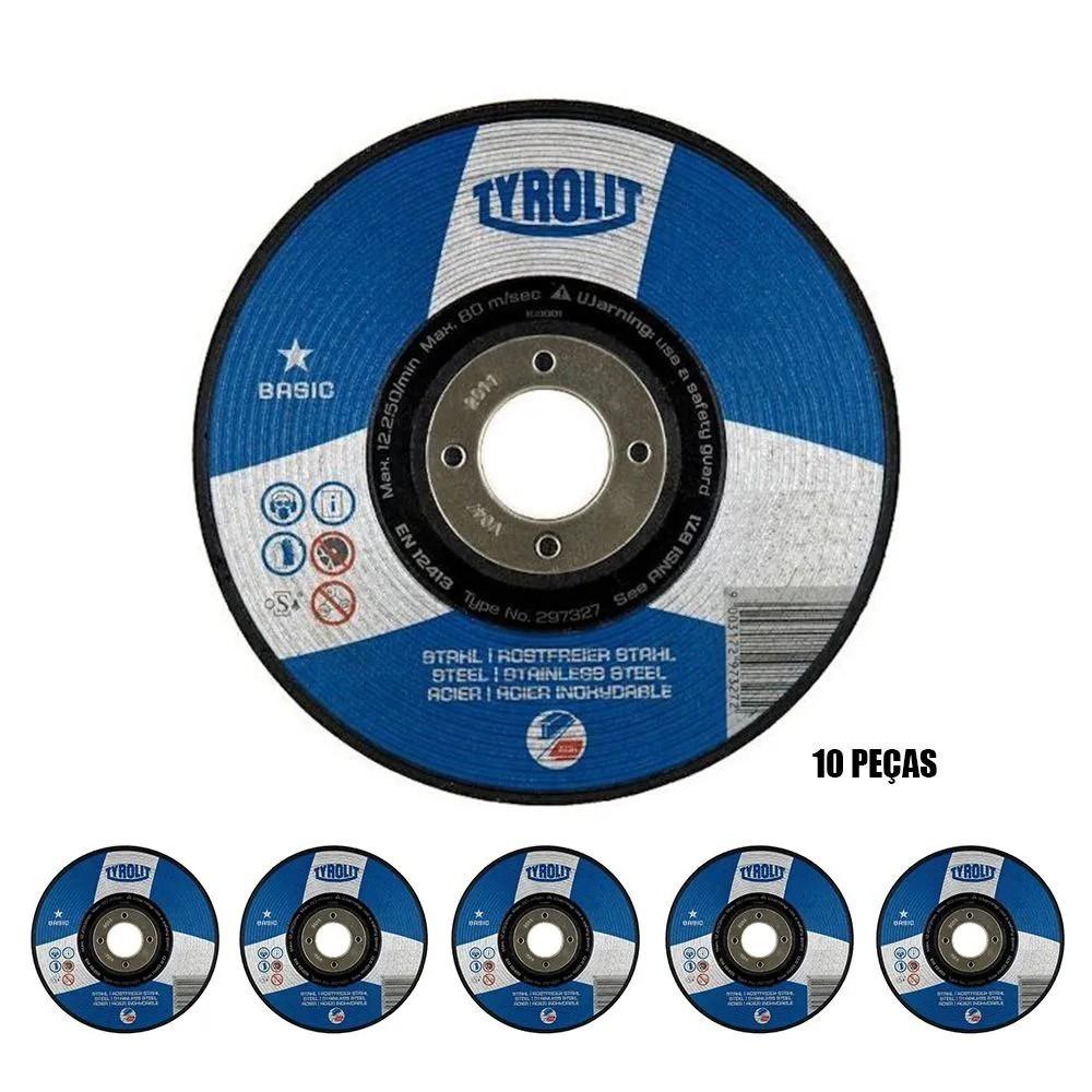 Kit 10 Discos De Corte Tyrolit Basic 115 X 1,0 A60q-bf | 4/1.2