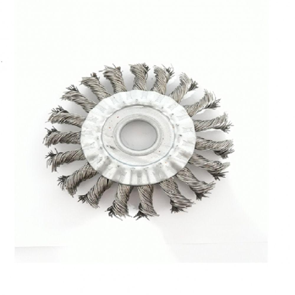 Escova Rot. Trançada 4.1/2x1/2x7/8 Aço Inox - Jn Escovas