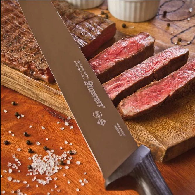 "Faca Carne de Refile em Mesa 20CM (8"") Starrett KBKR301-8"
