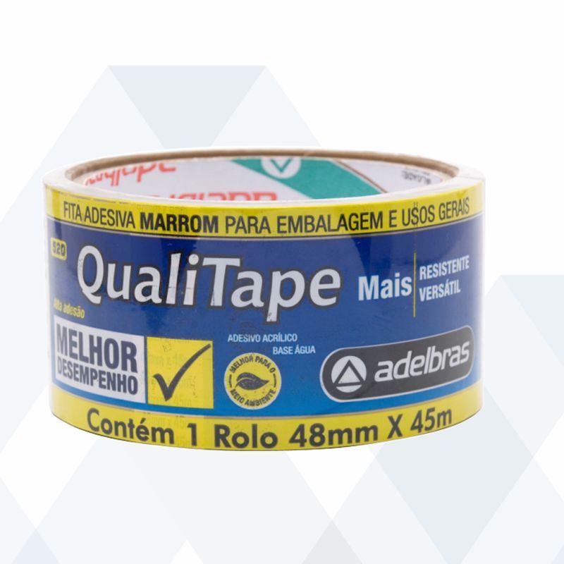 Fita Adesiva P/ Embalagem Marron 48MM X 40M Qualitape 520