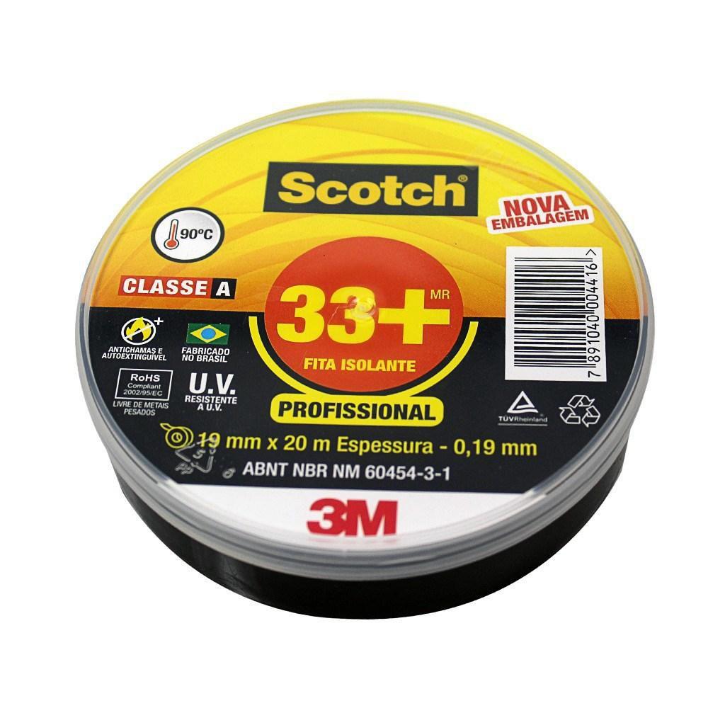 Fita Isolante 3M Scotch 19mm  33+ - 20 Metros