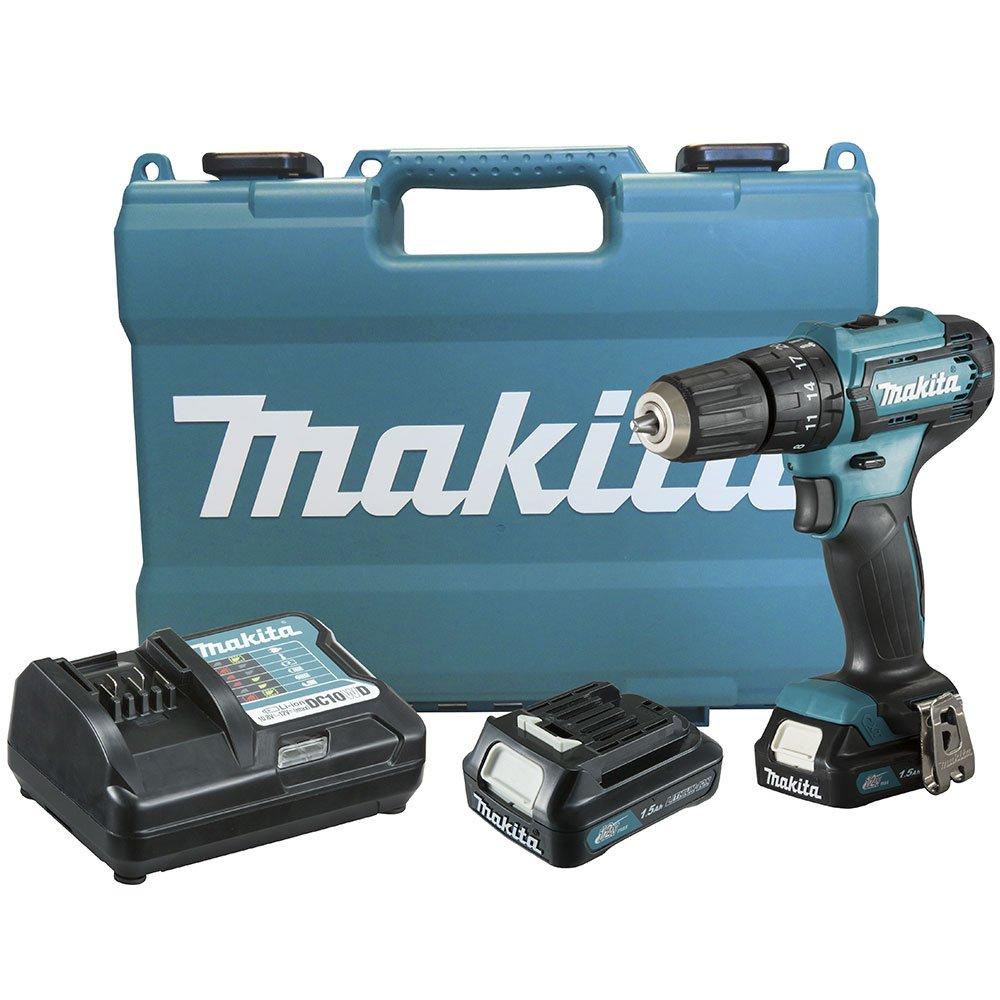 Furadeira/ Parafusadeira de Impacto 12V com 2 Baterias Lítio Carregador Bivolt e Maleta MAKITA HP333DWYE