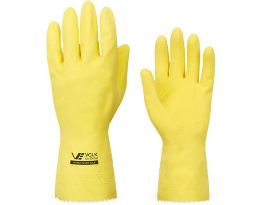 Kit 10 Luvas Proteção Latex Volk Limpeza Cozinha Lixo