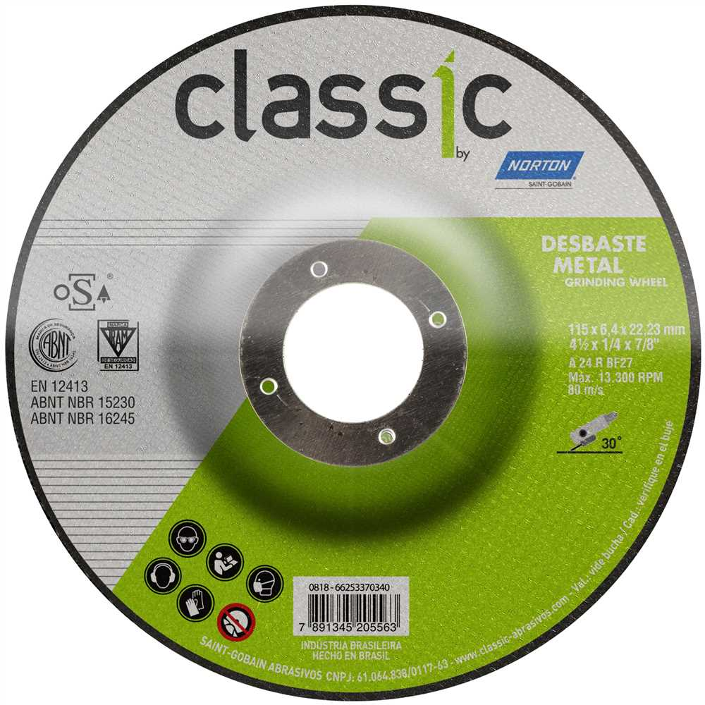 KIT 20 DISCOS DE DESBASTE A24R 115X6.0X22.2MM NOR-CLASSIC BDA600 NORTON