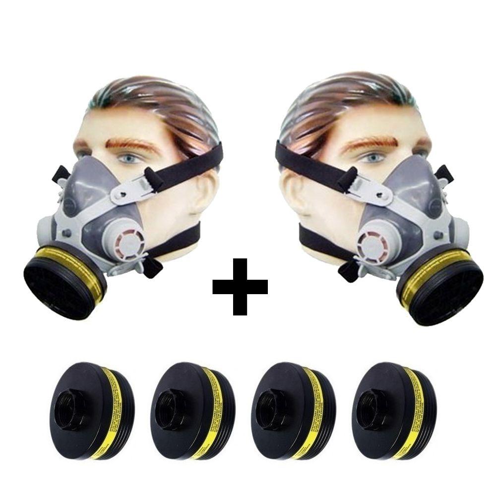 Kit 2 Mascaras Facial Destra C/ 6 Filtros Pintura/gases